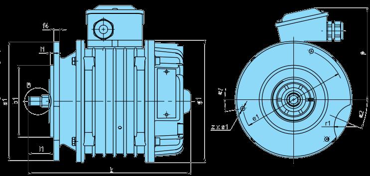электродвигатель ККЕ размеры