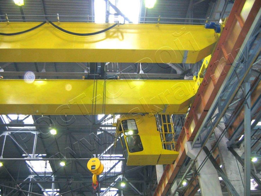 кран мостовой двухбалочный управлением из кабины