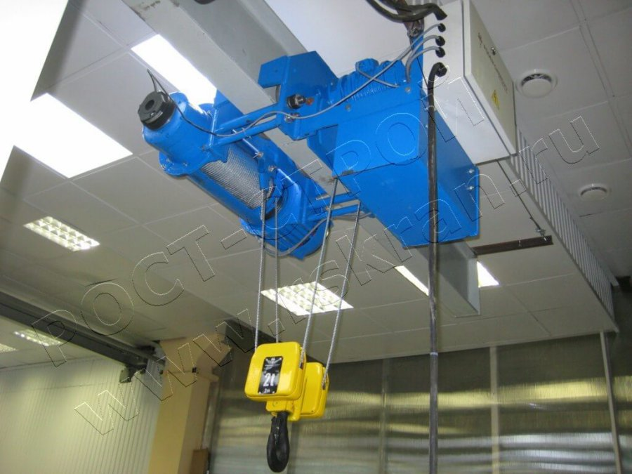 таль электрическая УСВ, два тормоза на подъем, микро скорости на подъем и перемещение