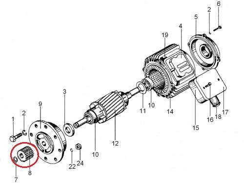 шестерня двигателя перемещения тали