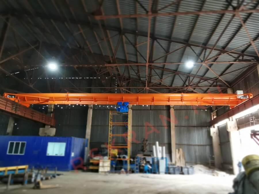 Кран мостовой опорный однобалочный трубной конструкции гп 8т пролет 22,5м